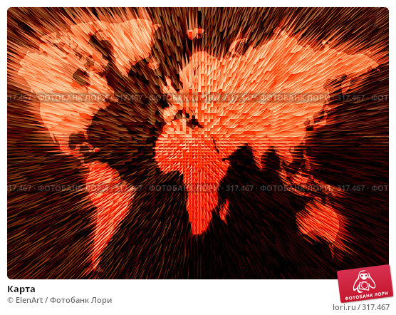 Карта, иллюстрация № 317467 (c) ElenArt / Фотобанк Лори