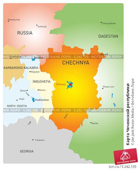 Купить «Карта Чеченской республики», иллюстрация № 5242135 (c) Jan Jack Russo Media / Фотобанк Лори