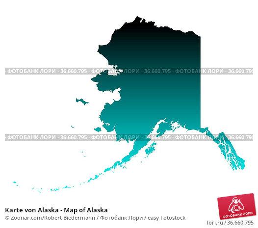 Karte von Alaska - Map of Alaska. Стоковое фото, фотограф Zoonar.com/Robert Biedermann / easy Fotostock / Фотобанк Лори