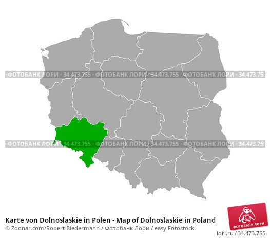 Karte von Dolnoslaskie in Polen - Map of Dolnoslaskie in Poland. Стоковое фото, фотограф Zoonar.com/Robert Biedermann / easy Fotostock / Фотобанк Лори