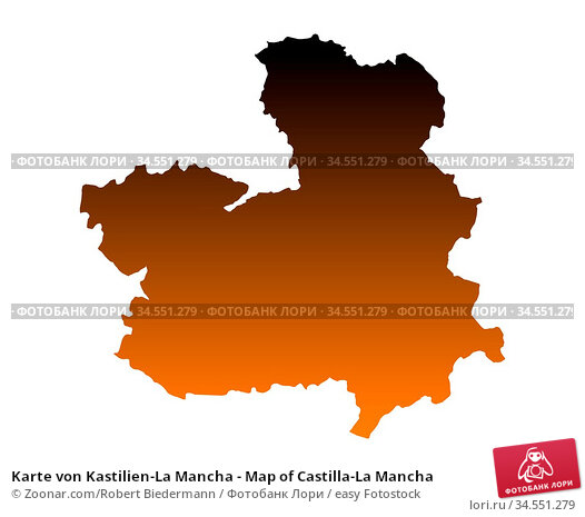 Karte von Kastilien-La Mancha - Map of Castilla-La Mancha. Стоковое фото, фотограф Zoonar.com/Robert Biedermann / easy Fotostock / Фотобанк Лори
