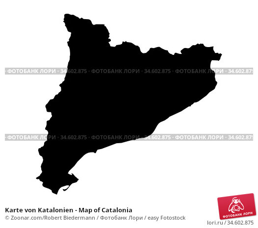 Karte von Katalonien - Map of Catalonia. Стоковое фото, фотограф Zoonar.com/Robert Biedermann / easy Fotostock / Фотобанк Лори
