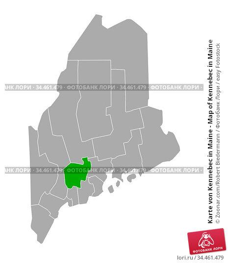 Karte von Kennebec in Maine - Map of Kennebec in Maine. Стоковое фото, фотограф Zoonar.com/Robert Biedermann / easy Fotostock / Фотобанк Лори