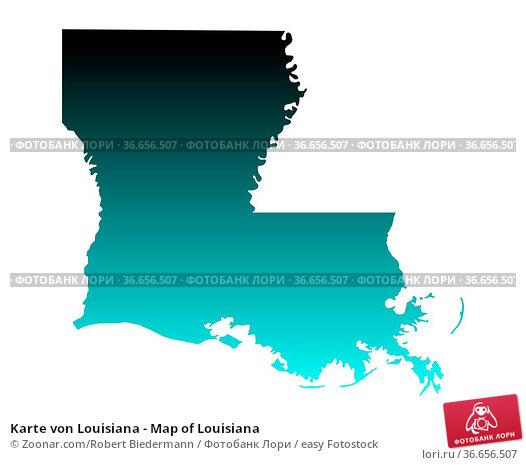 Karte von Louisiana - Map of Louisiana. Стоковое фото, фотограф Zoonar.com/Robert Biedermann / easy Fotostock / Фотобанк Лори