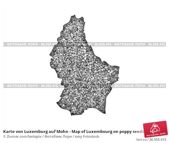 Karte von Luxemburg auf Mohn - Map of Luxembourg on poppy seeds. Стоковое фото, фотограф Zoonar.com/lantapix / easy Fotostock / Фотобанк Лори