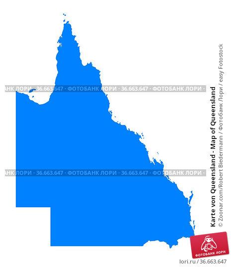 Karte von Queensland - Map of Queensland. Стоковое фото, фотограф Zoonar.com/Robert Biedermann / easy Fotostock / Фотобанк Лори