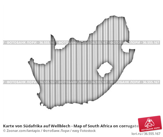 Karte von Südafrika auf Wellblech - Map of South Africa on corrugated... Стоковое фото, фотограф Zoonar.com/lantapix / easy Fotostock / Фотобанк Лори