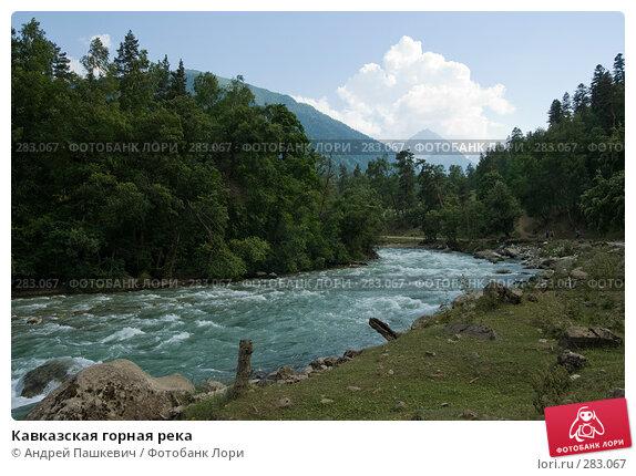 Кавказская горная река, фото № 283067, снято 22 июля 2007 г. (c) Андрей Пашкевич / Фотобанк Лори