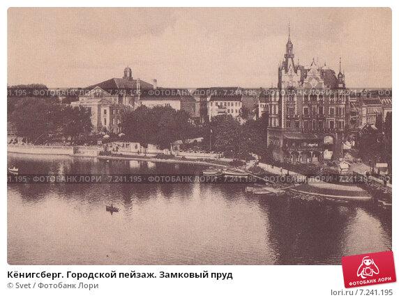 Кёнигсберг. Городской пейзаж. Замковый пруд. Стоковое фото, фотограф Svet / Фотобанк Лори