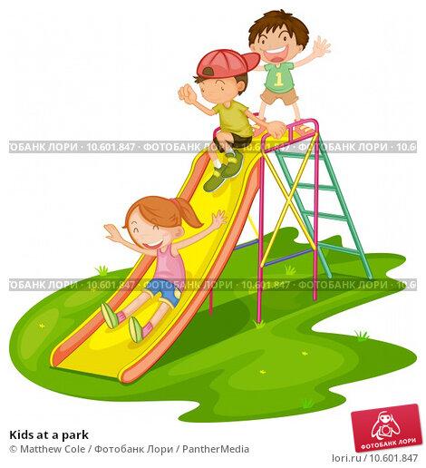 Kids at a park. Стоковая иллюстрация, иллюстратор Matthew Cole / PantherMedia / Фотобанк Лори