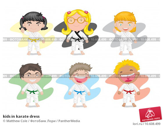 kids in karate dress. Стоковая иллюстрация, иллюстратор Matthew Cole / PantherMedia / Фотобанк Лори