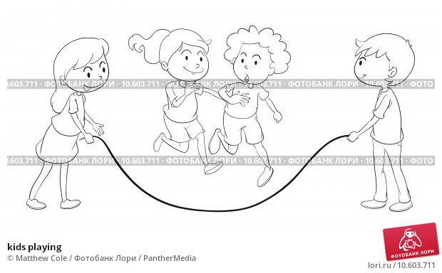 kids playing. Стоковая иллюстрация, иллюстратор Matthew Cole / PantherMedia / Фотобанк Лори