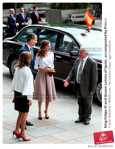 King Felipe VI and Queen Letizia of Spain, accompanied by Prince ... (2017 год). Редакционное фото, фотограф John Rainford / WENN.com / age Fotostock / Фотобанк Лори