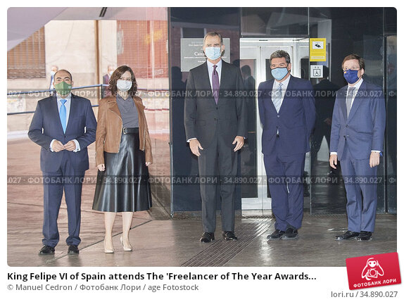 King Felipe VI of Spain attends The 'Freelancer of The Year Awards... Редакционное фото, фотограф Manuel Cedron / age Fotostock / Фотобанк Лори