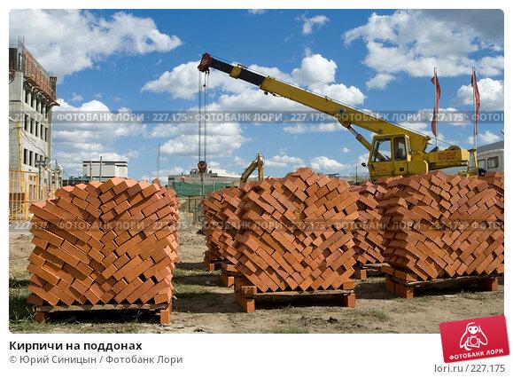 Кирпичи на поддонах, фото № 227175, снято 29 августа 2007 г. (c) Юрий Синицын / Фотобанк Лори