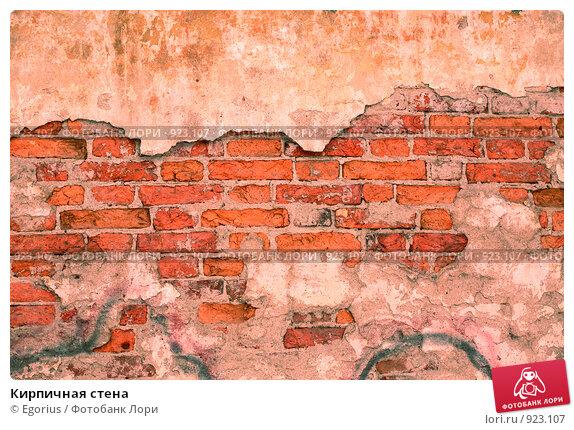 Купить «Кирпичная стена», фото № 923107, снято 18 октября 2019 г. (c) Egorius / Фотобанк Лори