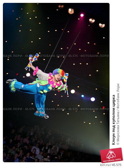 Клоун под куполом цирка, фото № 45575, снято 27 ноября 2006 г. (c) Морозова Татьяна / Фотобанк Лори