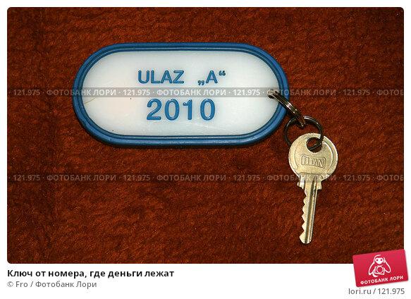 Купить «Ключ от номера, где деньги лежат», фото № 121975, снято 26 августа 2007 г. (c) Fro / Фотобанк Лори