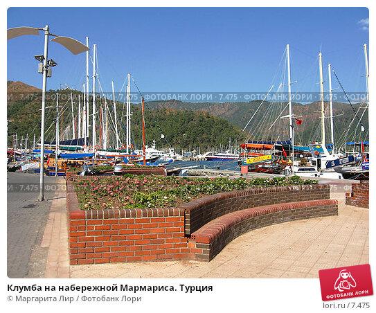 Клумба на набережной Мармариса. Турция, фото № 7475, снято 7 июля 2006 г. (c) Маргарита Лир / Фотобанк Лори