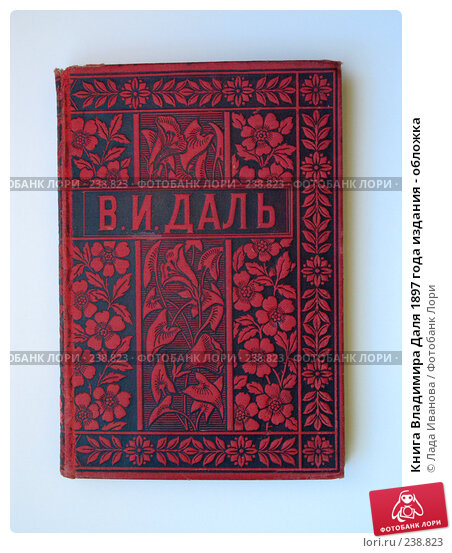 Купить «Книга Владимира Даля 1897 года издания - обложка», фото № 238823, снято 3 февраля 2008 г. (c) Лада Иванова / Фотобанк Лори