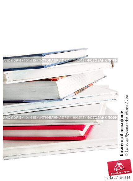 Книги на белом фоне, фото № 104615, снято 28 июля 2017 г. (c) Валерия Потапова / Фотобанк Лори