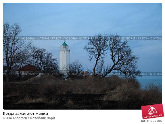 Когда зажигают маяки, фото № 77807, снято 9 февраля 2007 г. (c) Alla Andersen / Фотобанк Лори
