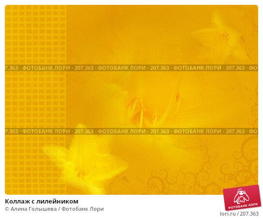 Коллаж с лилейником, эксклюзивная иллюстрация № 207363 (c) Алина Голышева / Фотобанк Лори