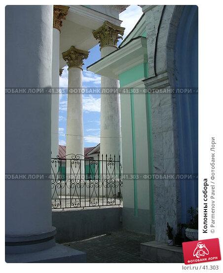 Купить «Колонны собора», фото № 41303, снято 9 июня 2005 г. (c) Parmenov Pavel / Фотобанк Лори