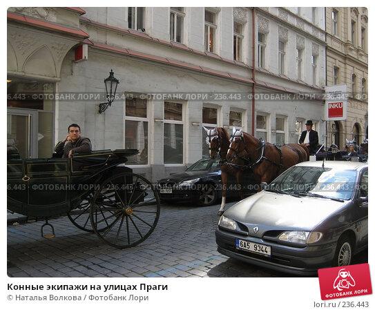 Конные экипажи на улицах Праги, эксклюзивное фото № 236443, снято 16 мая 2007 г. (c) Наталья Волкова / Фотобанк Лори
