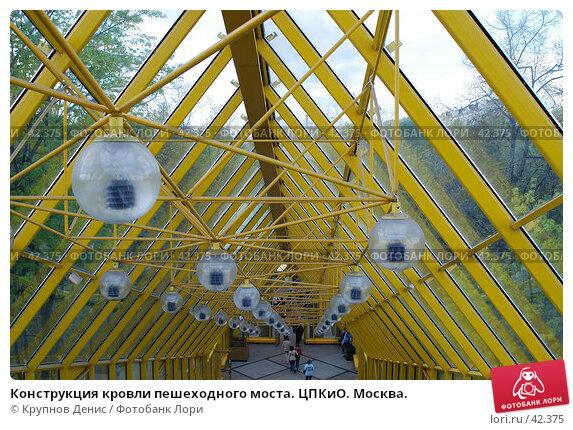 Конструкция кровли пешеходного моста. ЦПКиО. Москва., фото № 42375, снято 8 апреля 2007 г. (c) Крупнов Денис / Фотобанк Лори