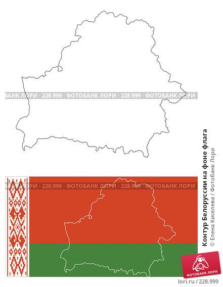 Контур Белоруссии на фоне флага, иллюстрация № 228999 (c) Елена Киселева / Фотобанк Лори