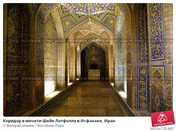 Коридор в мечети Шейх Лотфолла в Исфахане, Иран, фото № 25647, снято 28 ноября 2006 г. (c) Валерий Шанин / Фотобанк Лори