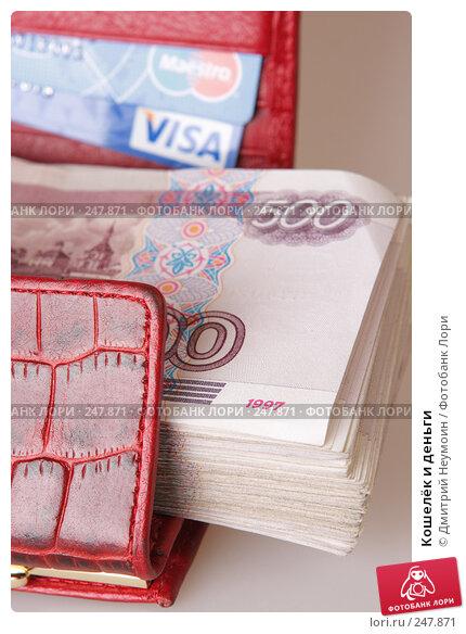 Кошелёк и деньги, эксклюзивное фото № 247871, снято 8 апреля 2008 г. (c) Дмитрий Неумоин / Фотобанк Лори