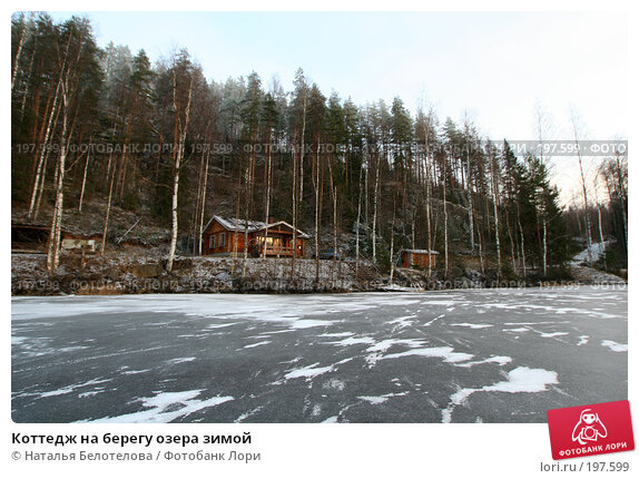 Коттедж на берегу озера зимой, фото № 197599, снято 16 декабря 2007 г. (c) Наталья Белотелова / Фотобанк Лори