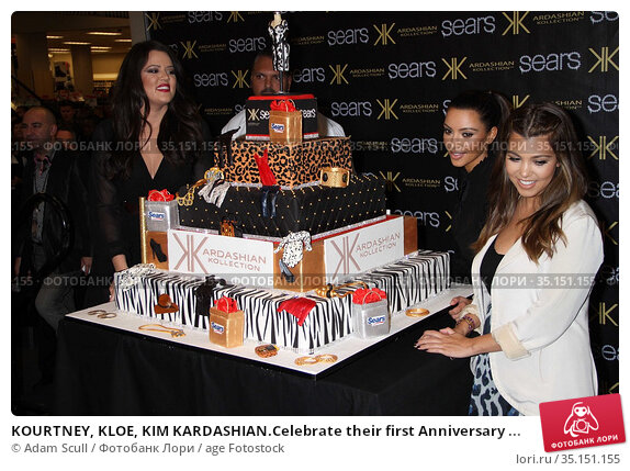 KOURTNEY, KLOE, KIM KARDASHIAN.Celebrate their first Anniversary ... (2011 год). Редакционное фото, фотограф Adam Scull / age Fotostock / Фотобанк Лори