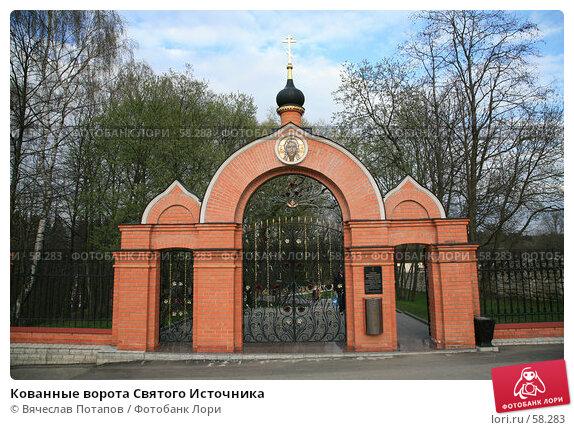 Купить «Кованные ворота Святого Источника», фото № 58283, снято 29 апреля 2007 г. (c) Вячеслав Потапов / Фотобанк Лори
