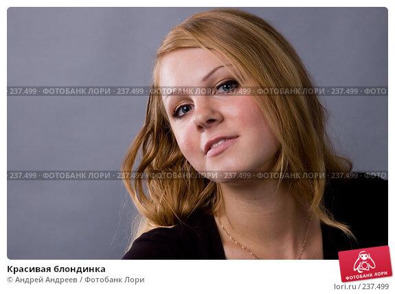Купить «Красивая блондинка», фото № 237499, снято 23 марта 2018 г. (c) Андрей Андреев / Фотобанк Лори