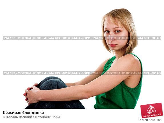 Красивая блондинка, фото № 244183, снято 9 октября 2007 г. (c) Коваль Василий / Фотобанк Лори