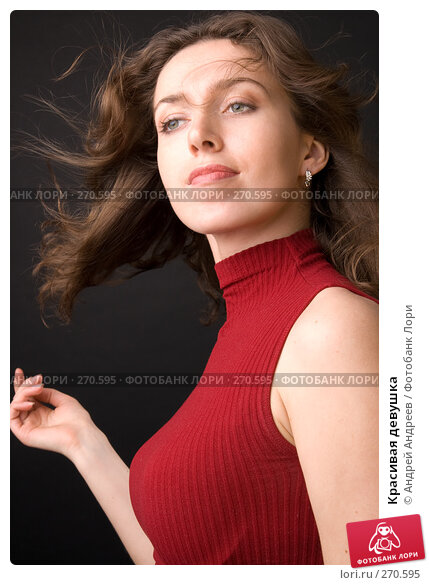Красивая девушка, фото № 270595, снято 5 апреля 2008 г. (c) Андрей Андреев / Фотобанк Лори