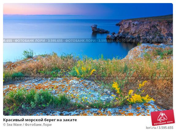 Купить «Красивый морской берег на закате», фото № 3595655, снято 19 мая 2012 г. (c) Sea Wave / Фотобанк Лори