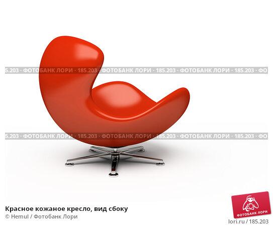 Красное кожаное кресло, вид сбоку, иллюстрация № 185203 (c) Hemul / Фотобанк Лори