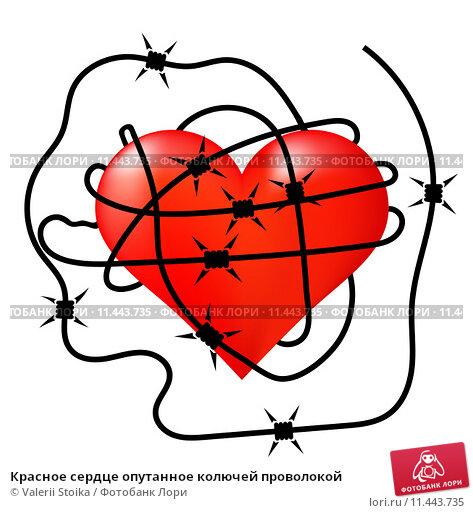 сердце опутанное колючей проволкой