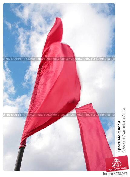 Красные флаги, фото № 278967, снято 6 марта 2008 г. (c) Astroid / Фотобанк Лори