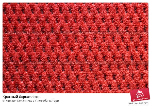 Красный бархат. Фон, фото № 269351, снято 26 апреля 2008 г. (c) Михаил Коханчиков / Фотобанк Лори