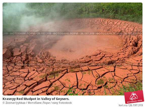 Купить «Krasnyy Red Mudpot in Valley of Geysers.», фото № 26197319, снято 26 июня 2019 г. (c) easy Fotostock / Фотобанк Лори