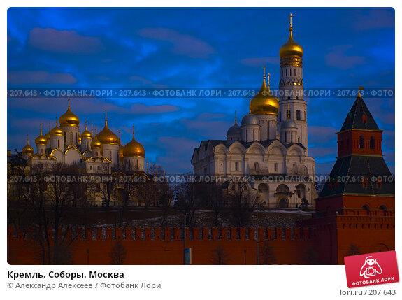 Купить «Кремль. Соборы. Москва», эксклюзивное фото № 207643, снято 11 февраля 2008 г. (c) Александр Алексеев / Фотобанк Лори