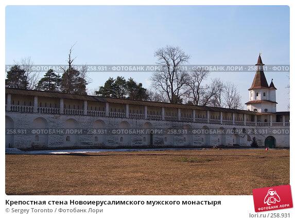 Крепостная стена Новоиерусалимского мужского монастыря, фото № 258931, снято 30 марта 2008 г. (c) Sergey Toronto / Фотобанк Лори