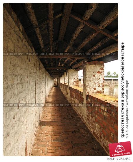 Крепостная стена в Борисоглебском монастыре, эксклюзивное фото № 234459, снято 19 августа 2007 г. (c) Ольга Хорькова / Фотобанк Лори
