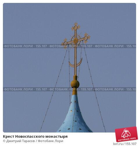 Крест Новоспасского монастыря, фото № 155107, снято 4 июня 2006 г. (c) Дмитрий Тарасов / Фотобанк Лори