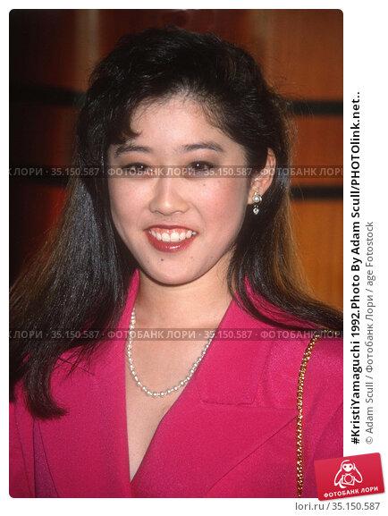 #KristiYamaguchi 1992.Photo By Adam Scull/PHOTOlink.net.. Редакционное фото, фотограф Adam Scull / age Fotostock / Фотобанк Лори